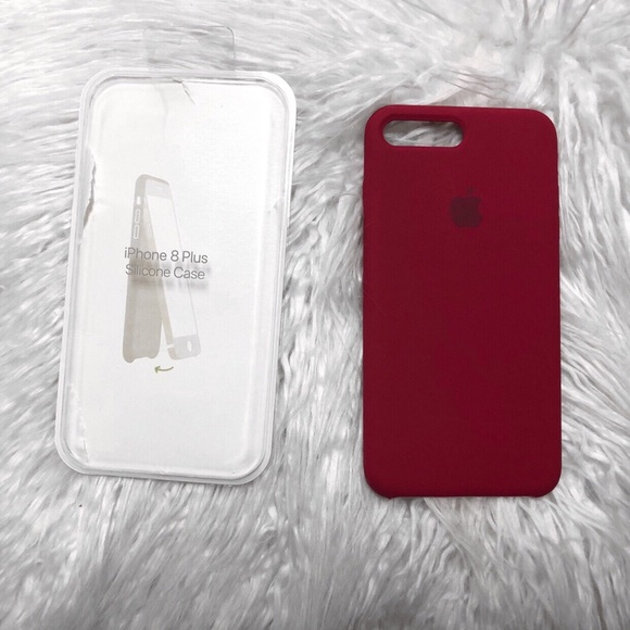 promo code 34e0d 169db rose red silicone apple case NWT